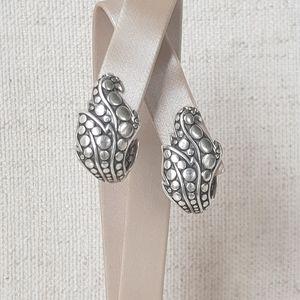 John Hardy Dot Ayu Leaf Earrings